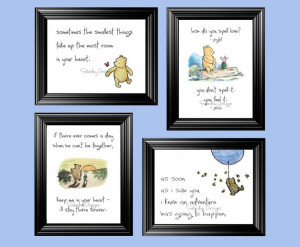 Set of 4 Classic Winnie the Pooh Quotes 5x7 by SaturdayDesigns, $10.00