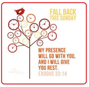 ... Fall Back This Sunday Greeting Card Wallpaper of Daylight Saving Time