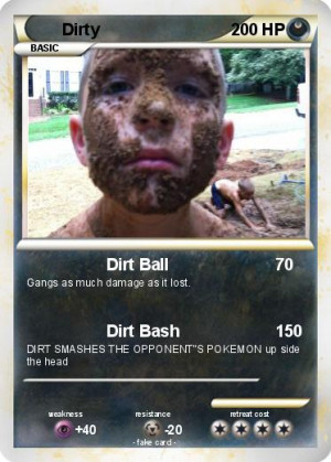 Dirty Pokemon Mypokecard