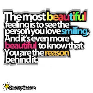 beautiful, feelings, love, quote, smile, text