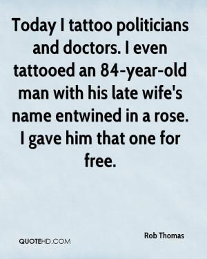 Rob Thomas Wife Quotes