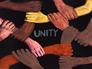 Come together in unity as before Him we stand