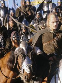 The horses are restless, and the men are quiet.