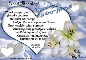 Thank you my Dear Friends!