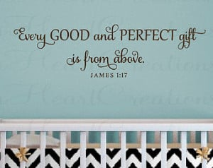 Wall Decal Baby Nursery Quote Christian Scripture Bible Verse