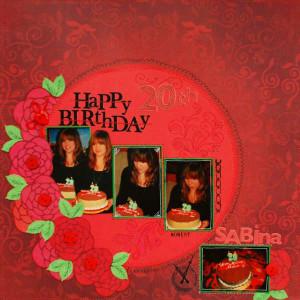 Happy 20th Birthday, Sabina