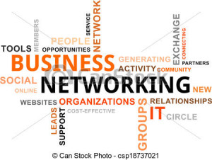 Vector - word cloud - business networking - stock illustration ...