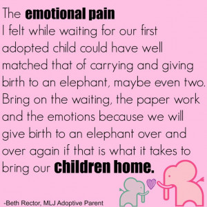 Giving birth to an elephant - adoption is equal to the gestation of an ...