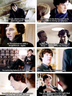 Sherlock quotes that defy description.