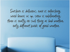 ... Weather Wall Quote Words Sayings Removable Weather Decal Lettering