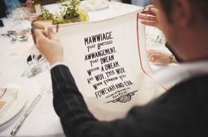 funny princess bride wedding napkin