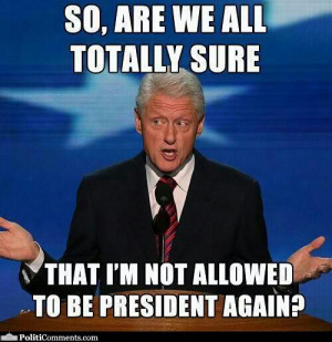 Can't Be Presdient Again?