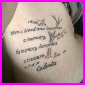 Quotes About Losing A Loved One Tattoo