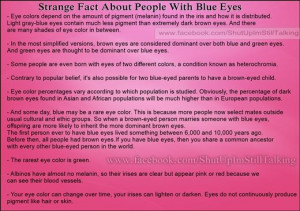 Interesting Strange Fact About PeopleWith Blue Eyes