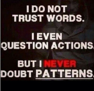 Never doubt patterns