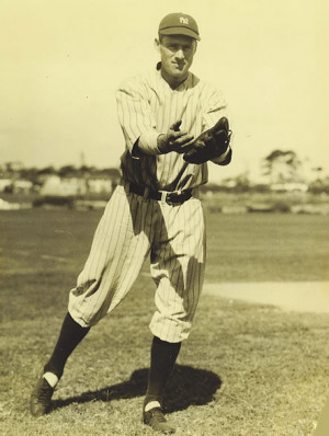 Earle Combs fielding spring training circa 1927