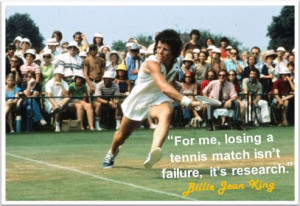 Billie Jean King #Tennis #Athlete #Sports #Quotes #Research