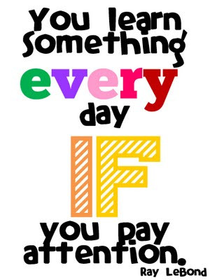You learn Something Every day if you pay Attention – Blessings Quote