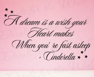Cinderella Disney Vinyl Wall Decal Quote