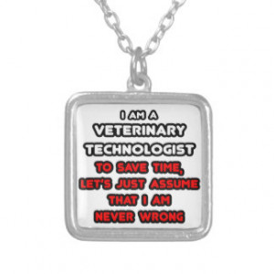Funny Veterinary Tech T-Shirts Custom Jewelry