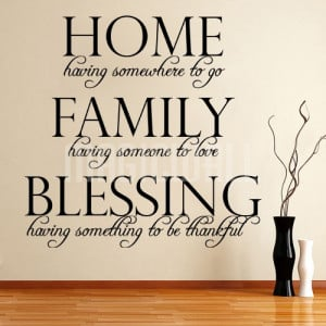 Home » Home Family Blessing - Wall Lettering Words