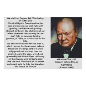 Winston Churchill Quote Posters & Prints