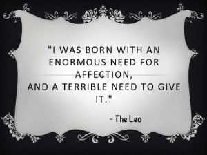Leo Zodiac Quotes Tumblr Star sign quotes leo ♌