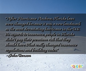 After Hurricane Andrew, Florida laws were changed because it was a new ...