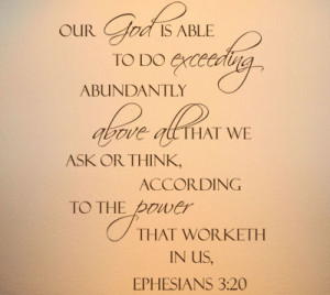 Our God Is Able Wall Decals