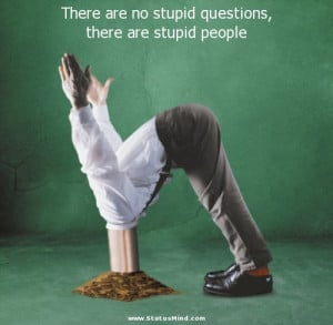 are no stupid questions, there are stupid people - Sarcastic Quotes ...
