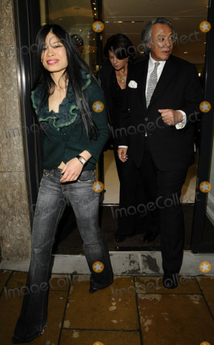 David Tang Picture LondonUK Vanessa Mae and David Tang at the