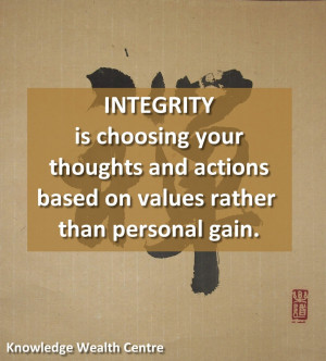 Quote: Integrity