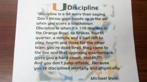 ... Discipline,