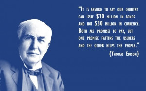 Let's Thank Thomas A. Edison!