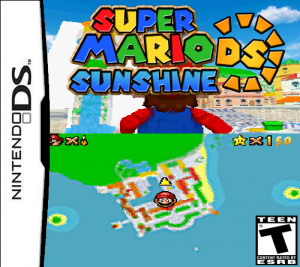 have made a cover for Super Mario Sunshine DS. I have used option 2.