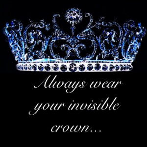 Invisible crown quote #confidence