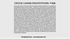 Chuck Lorre Vanity Cards Big Bang Theory