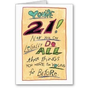 Amazon.com: Humorous Happy 21st Birthday Card Legally: Health ...