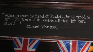 One of Meredith's favorite quotes about London
