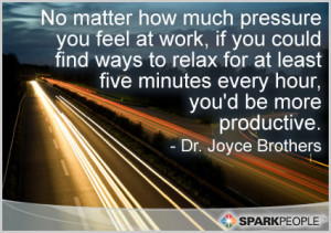 Motivational Quote - No matter how much pressure you feel at work, if ...