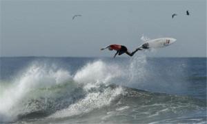 Funny Surfing Man