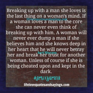 Never Cheat A Woman..