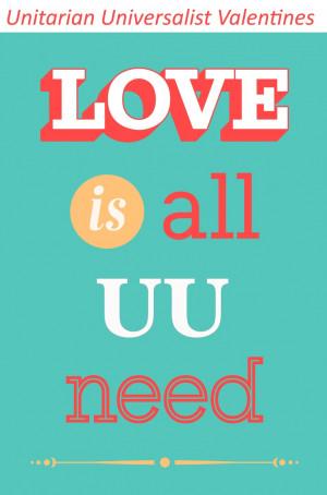 Unitarian Universalist Valentine Cards