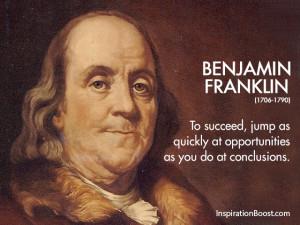 Benjamin Franklin Quick Quotes
