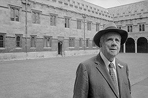 Author Robert Frost visiting Oxford, England in 1957
