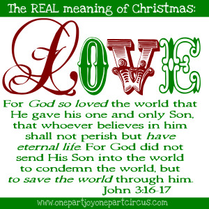 Ready? The REAL meaning of Christmas is found right here: