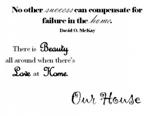 There Is Beauty all around when there's Love at Home ~ Family Quote