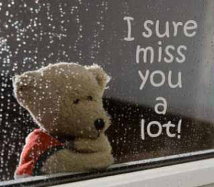 Missing you quotes and pictures - I sure miss you a lot.