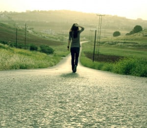 Little girl walking alone pictures 2