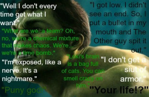 Bruce Banner/Hulk Quotes